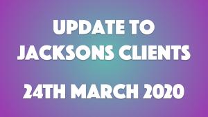 Update 24th March 2020